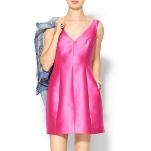Kate Spade Structured Hot Pink Dress